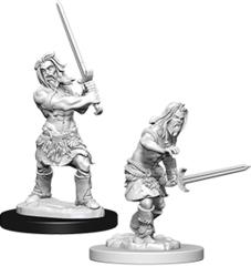 Pathfinder Deep Cuts Unpainted Miniatures: W6 Human Male Barbarian