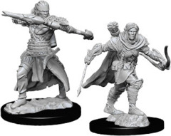 Pathfinder Deep Cuts Unpainted Miniatures: W7 Male Half-Elf Ranger