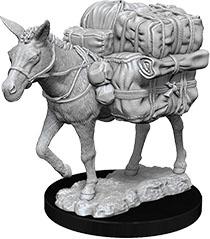 WizKids Deep Cuts Unpainted Miniatures: W7 Pack Mule