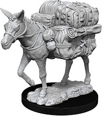 WizKids Deep Cuts Unpainted Miniatures: W7 Pack Mule