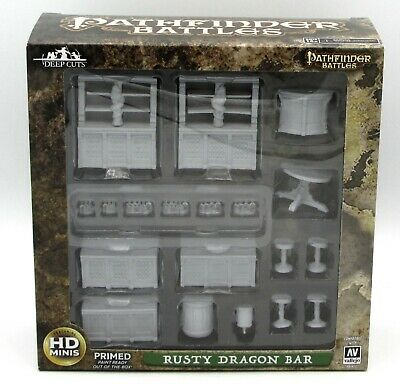 Pathfinder Deep Cuts Unpainted Miniatures: W4 Rusty Dragon Bar