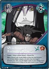 Orochimarus Forbidden Jutsu - M-US009 - Super Rare - Unlimited Edition - Foil