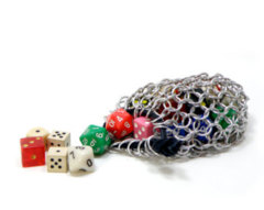 Chainmail Stainless Steel Dice Bag - Small