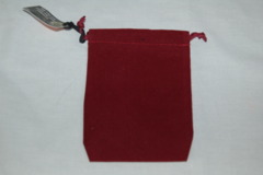 Invocation Wine Red Velour 4x6 Dice Bag