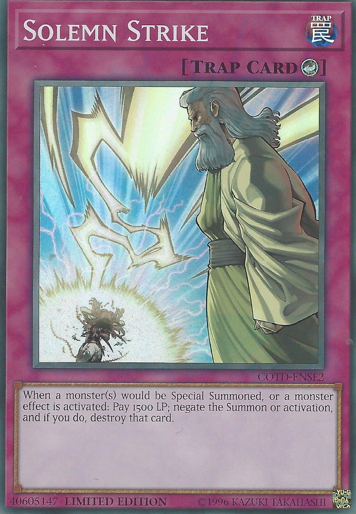 Solemn Strike - COTD-ENSE2 - Super Rare - Limited Edition