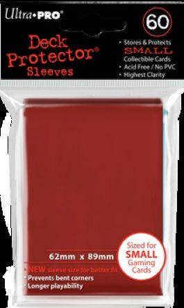 Ultra Pro 60ct Yugioh Sized Sleeves Case - Red (100 Packs)