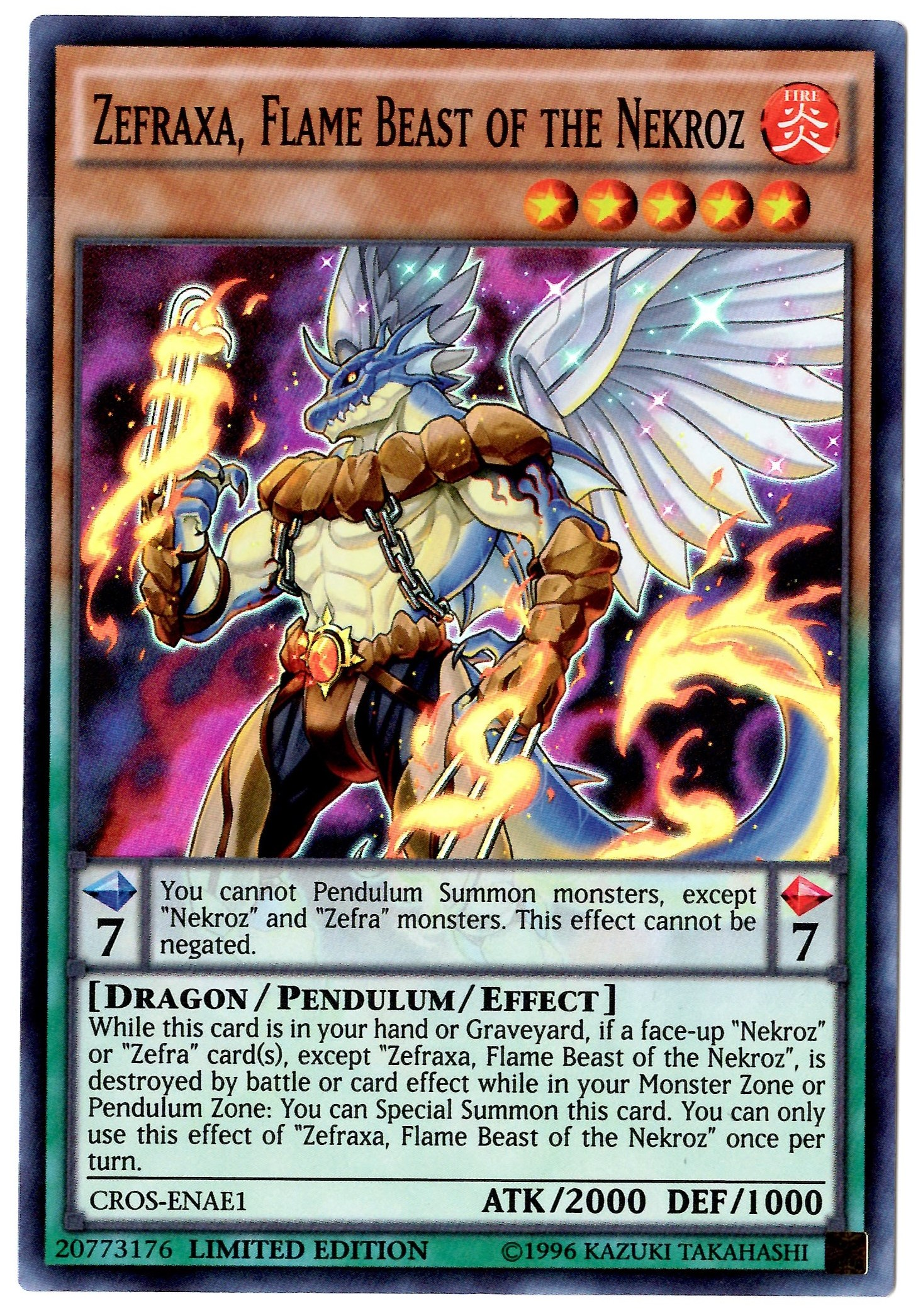 Zefraxa, Flame Beast of the Nekroz - CROS-ENAE1 - Super - Limited Edition