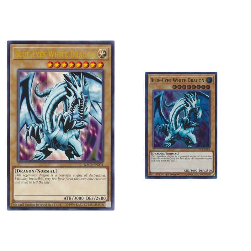 YuGiOh Blue Eyes White Dragon Card Set include OVERSIZE card