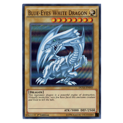 Blue-Eyes White Dragon - DUSA-EN043 - Ultra Rare - 1st Edition