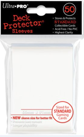 Ultra Pro Standard Sleeves Case - White (50 ct.) (120 Packs)