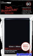 Ultra Pro 60ct Yugioh Sized Sleeves Case - Black (100 Packs)