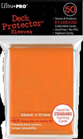 Ultra Pro Standard Sleeves Case - Orange (50 ct.) (120 Packs)
