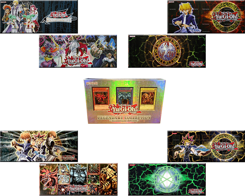 Legendary Collection 1, 3, 4, 5 Gameboard Edition Playmats