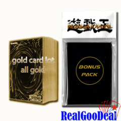 YuGiOh Lot of 26 Gold Cards NO DUPLICATES EXCLUSIVE realgoodeal sleeves