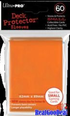 Ultra Pro 60ct Yugioh Sized Sleeves Case - Orange (100 Packs)