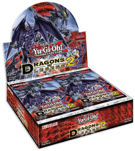 YuGiOh Dragons of Legend 2 Booster Box Case of 12