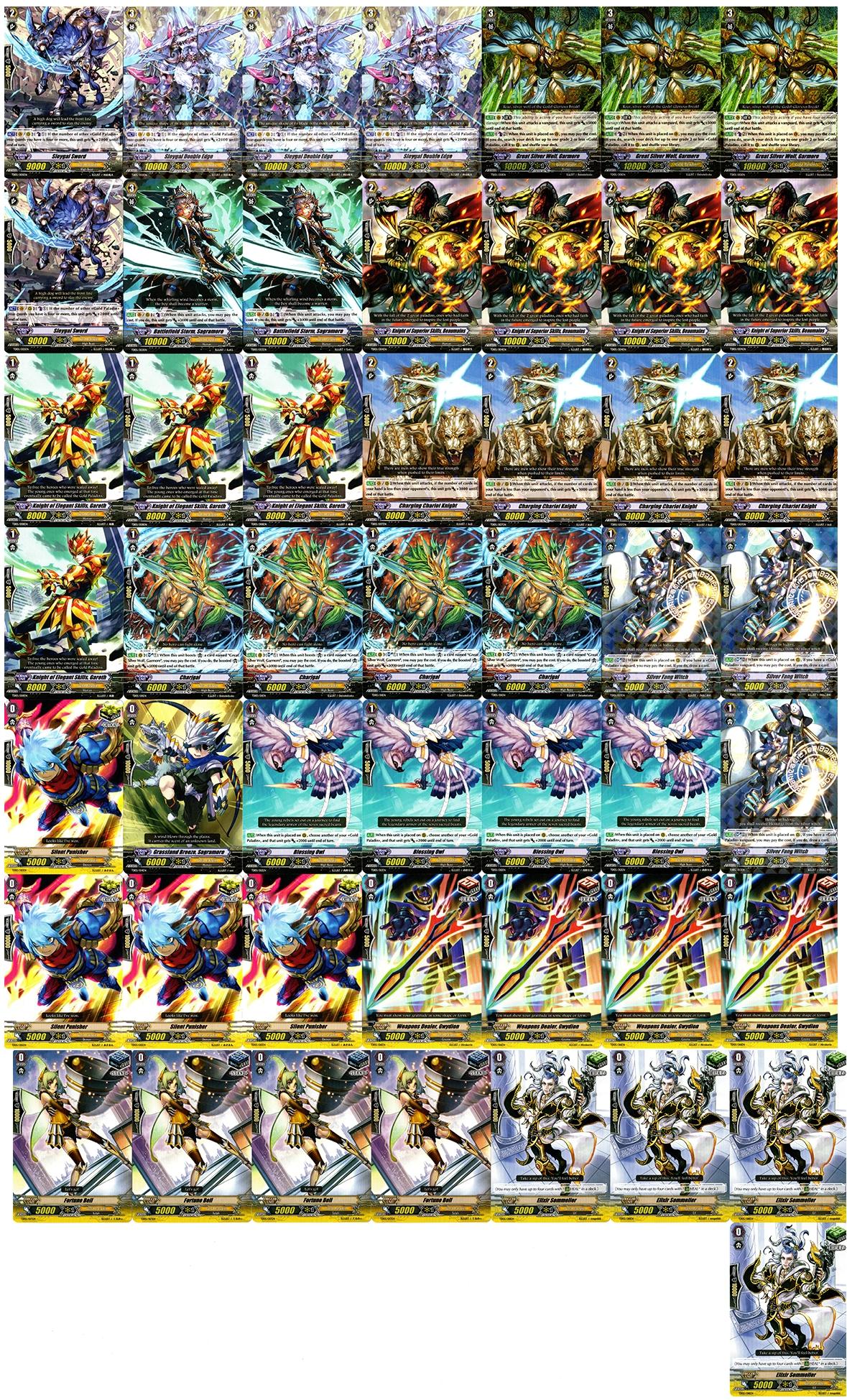 Cardfight!! Vanguard Gold Paladin Budget Deck + Sleeves