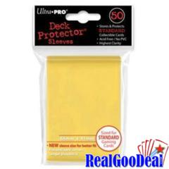 50ct Yellow Standard Deck Protectors Case (120 Packs Of 50 Sleeves)