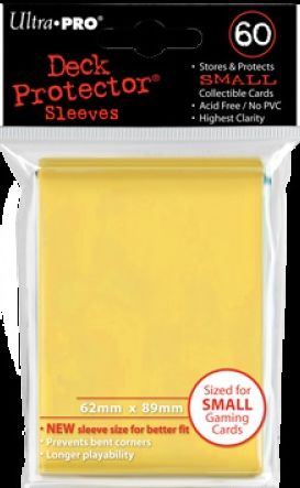 Ultra Pro 60ct Yugioh Sized Sleeves Case - Yellow (100 Packs)