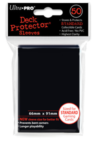 Ultra Pro Standard Sleeves Case - Black (50 ct.) (120 Packs)