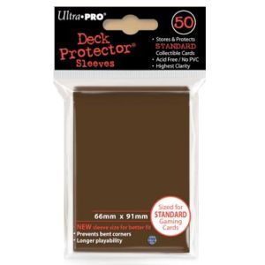 Ultra Pro Standard Sleeves Case - Brown (50 ct.) (120 Packs)