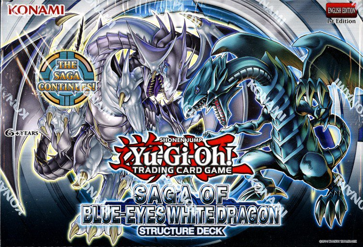 Saga of the Blue Eyes White Dragon Deck Case (12 COUNT BOX)