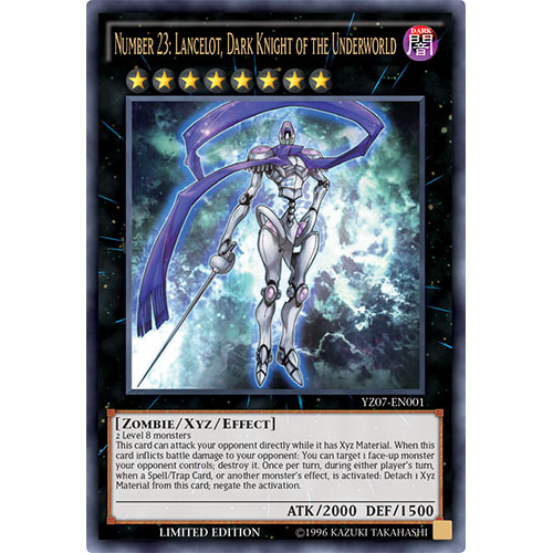 Number 23: Lancelot Dark Knight of the Underworld - YZ07-EN001 - Ultra Rare - Limited Edition - Promo