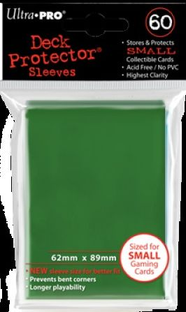 Ultra Pro 60ct Yugioh Sized Sleeves Case - Green (100 Packs)
