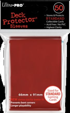 Ultra Pro Standard Sleeves Case - Red (50 ct.) (120 Packs)