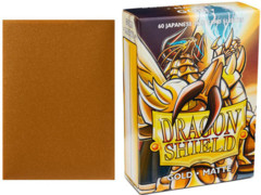 Dragon Shield Box of 60 Japanese Matte Gold