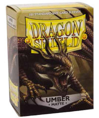 Dragon Shield Matte Sleeves Umber 100 ct