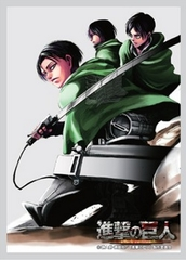Attack on Titan Levi Mikasa Eren Sleeves 52 ct.