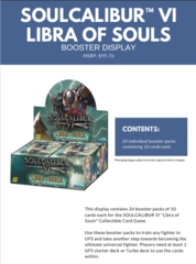 Soul Calibur VI:  Libra of Souls Booster Display