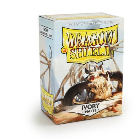 Dragon Shield Sleeves: Matte Ivory (Box of 100)
