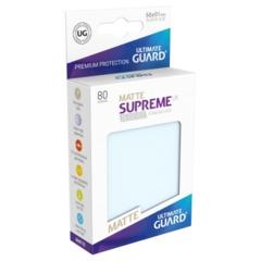 Supreme UX Sleeves Standard Size - Matte Transparent - 66 mm x 91 mm - Pack of 80