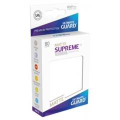 Supreme UX Sleeves Standard Size - Matte White - 66 mm x 91 mm - Pack of 80