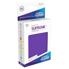 Supreme UX Sleeves Standard Size - Matte Purple - 66 mm x 91 mm - Pack of 80