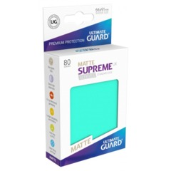 Supreme UX Sleeves Standard Size - Matte Turquoise - 66 mm x 91 mm - Pack of 80