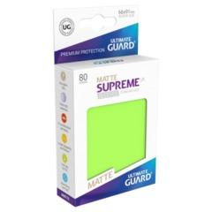 Supreme UX Sleeves Standard Size - Matte Light Green - 66 mm x 91 mm - Pack of 80