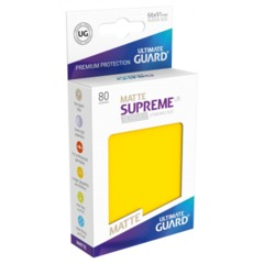 Supreme UX Sleeves Standard Size - Matte Yellow - 66 mm x 91 mm - Pack of 80