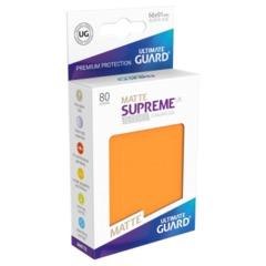 Supreme UX Sleeves Standard Size - Matte Orange - 66 mm x 91 mm - Pack of 80