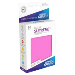Supreme UX Sleeves Standard Size - Matte Pink - 66 mm x 91 mm - Pack of 80