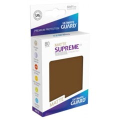 Supreme UX Sleeves Standard Size - Matte Brown - 66 mm x 91 mm - Pack of 80