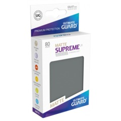 Supreme UX Sleeves Standard Size - Matte Dark Gray - 66 mm x 91 mm - Pack of 80