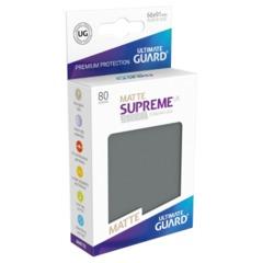 Supreme UX Sleeves Standard Size - Matte Dark Gray - 66 mm x 91 mm - Pack of 80