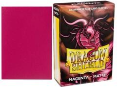 Dragon Shield Mini Japanese Size Matte Sleeves - Magenta