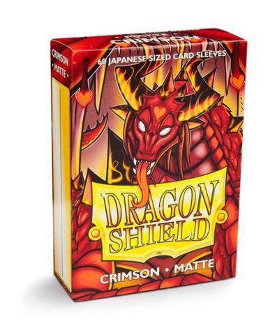 Dragon Shield Mini Japanese Size Matte Sleeves - Crimson