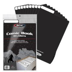 COMIC DIVIDER - BLACK - Pack of 25