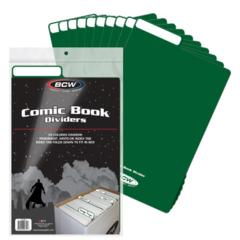 COMIC DIVIDER - GREEN - Pack of 25