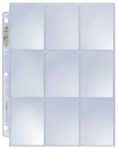 1 Case Ultra PRO Platinum 9-Pocket Pages